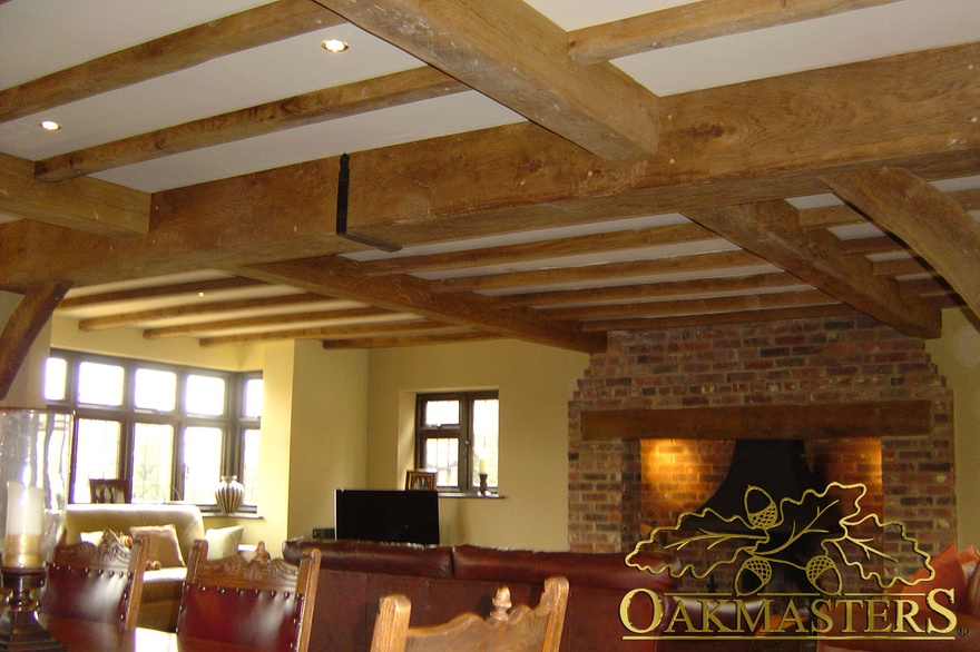 Disguised load bearing ceiling beams