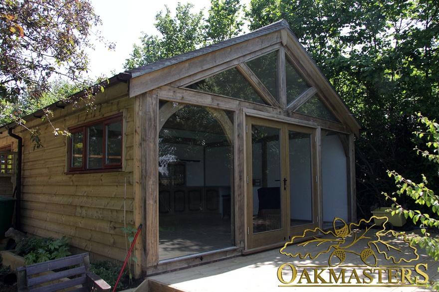 2 Bay Garage And Garden Room In Sussex Oakmasters