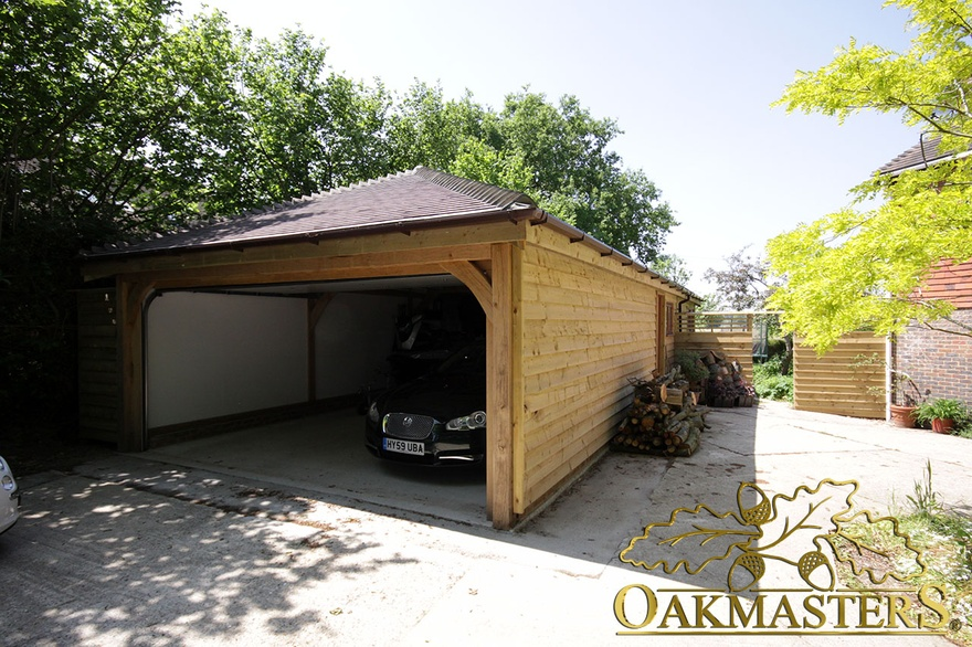 2 bay garage and garden room in sussex oakmasters for 2 bay garage