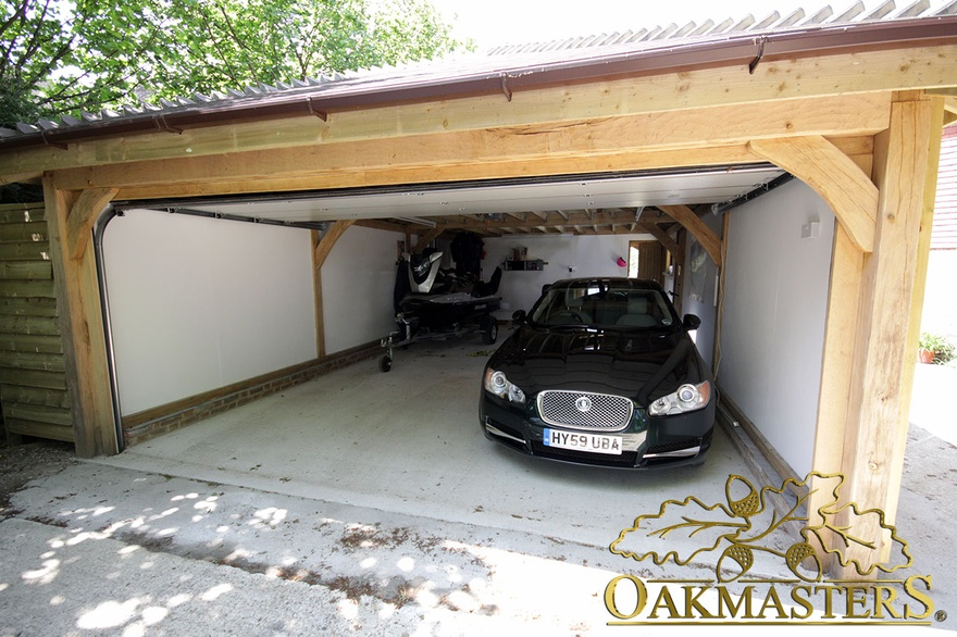 2 bay garage and garden room in sussex oakmasters for Two bay garage