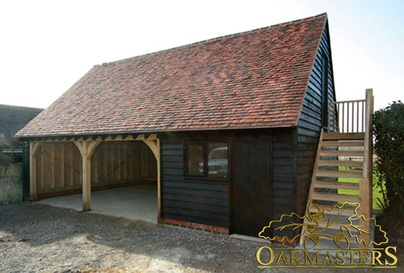 Galleries for oak garages and oak outbuildings oakmasters for 2 bay garage