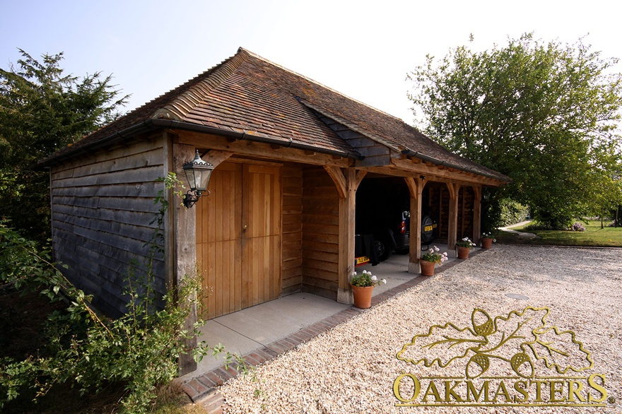 3 bay open oak garage with closed store room oakmasters for 3 bay garage cost