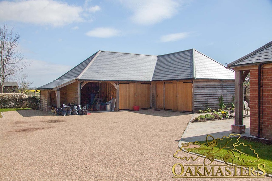 L shaped oak outbuilding complex in sussex oakmasters for L shaped garage