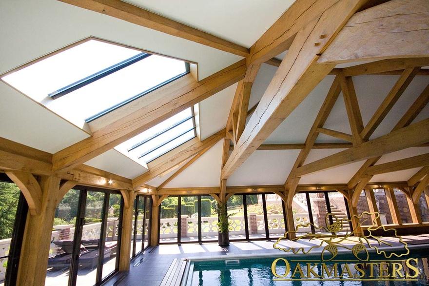 Oak Pool House With Impressive Vaulted Roof Oakmasters