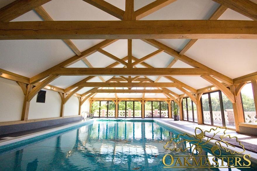 Oak Pool House With Impressive Vaulted Roof Oakmasters