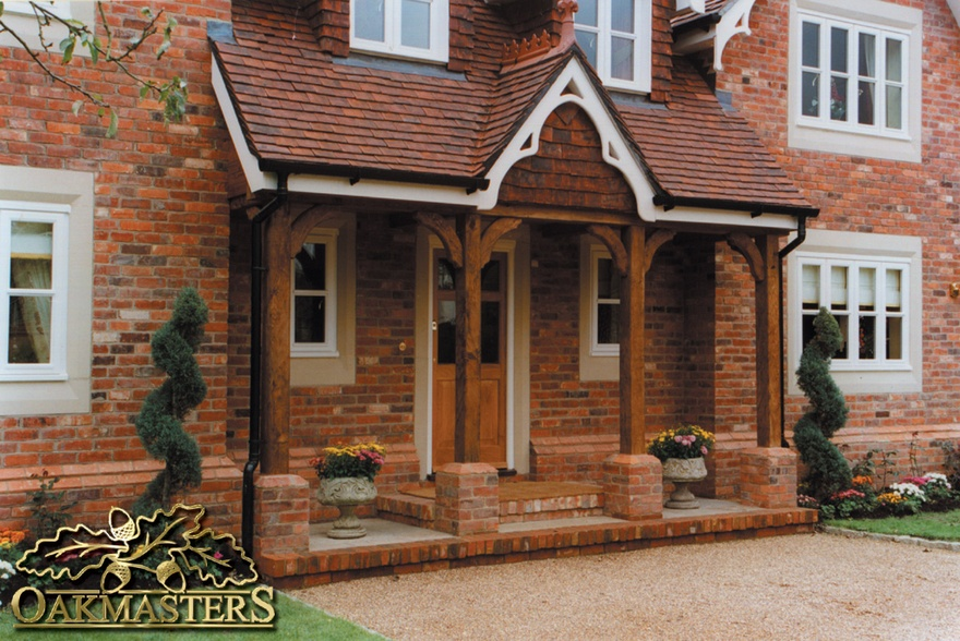 Open porches oakmasters for Porch designs for bungalows uk