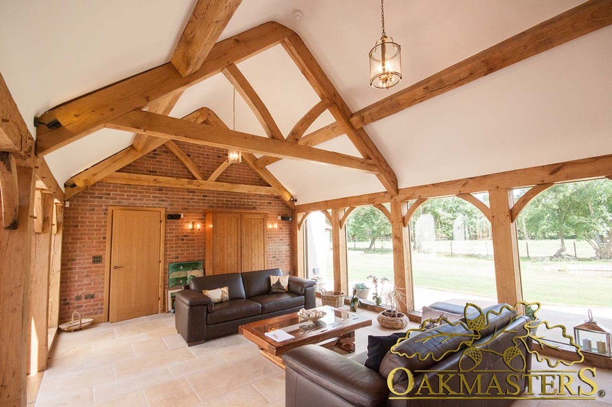 Seating With Views In Fully Glazed Oak Frame Linkroom