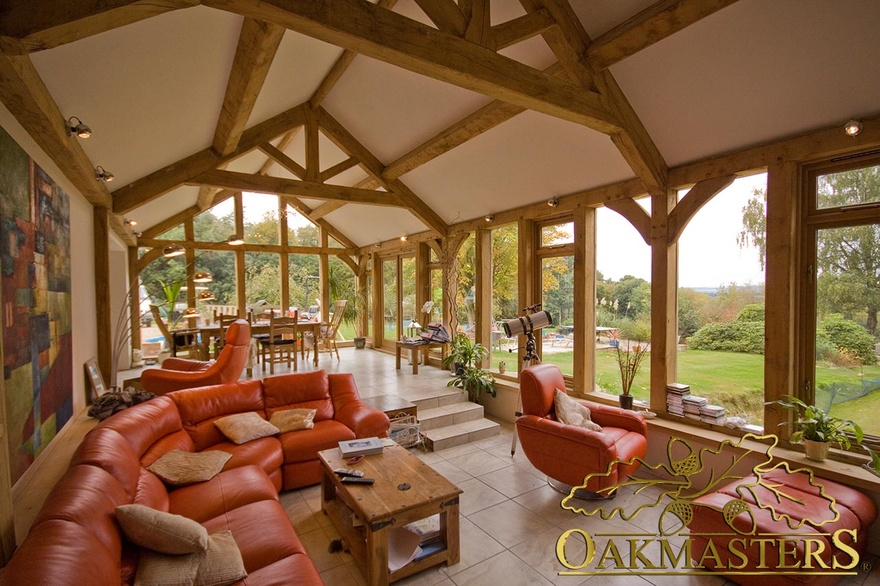 Stunning multilevel garden room in kent oakmasters for Garden rooms kent