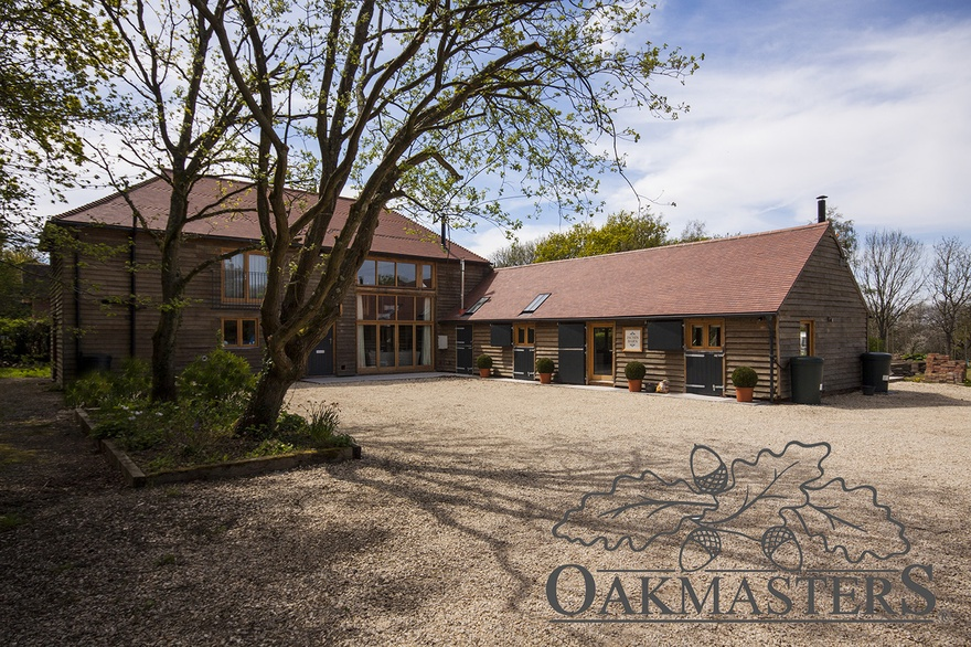 Contemporary Oak Barn Conversion Oakmasters