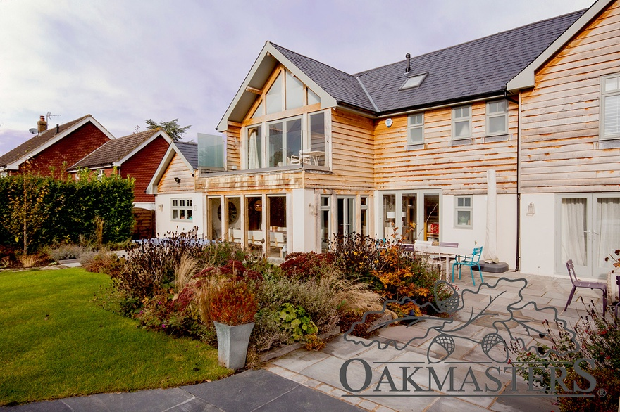 Double storey oak framed extension - Oakmasters