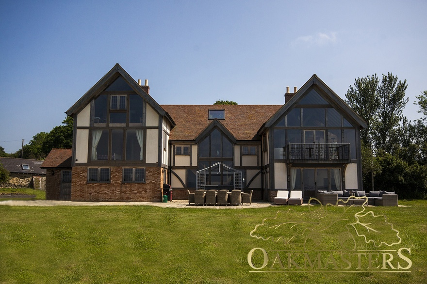 Large country house with glazed gables oakmasters for Big houses in the country