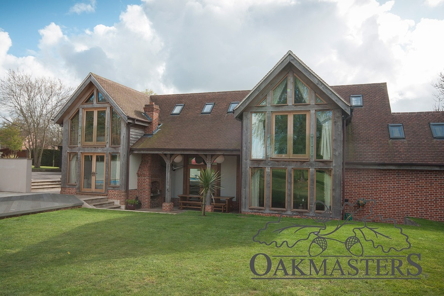 Large double storey glazed oak extension - Oakmasters