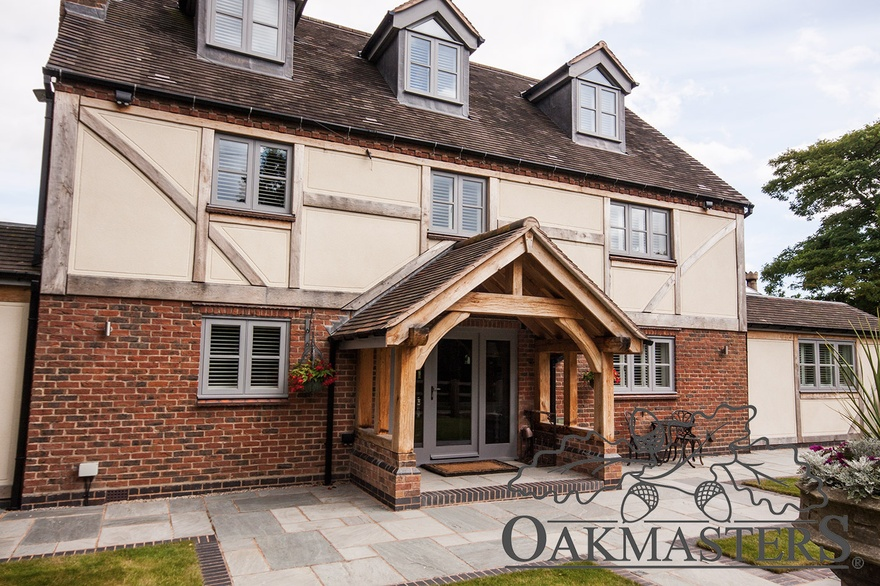 Foyer Extension Ideas : Large oak framed orangery style extension oakmasters