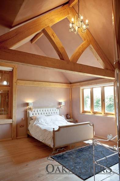 Oak frame and french beds work so well together