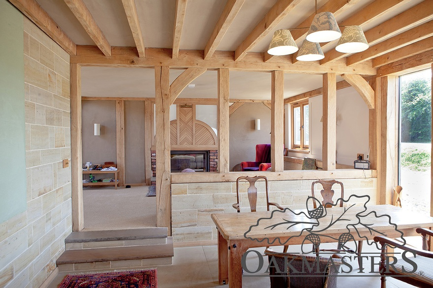 Organic country oak barn in sussex oakmasters for Kitchen designs 3m x 4m