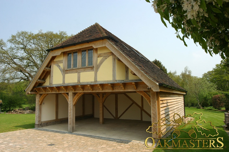 Case Study Three Bay Garage Entrance Porch And Home