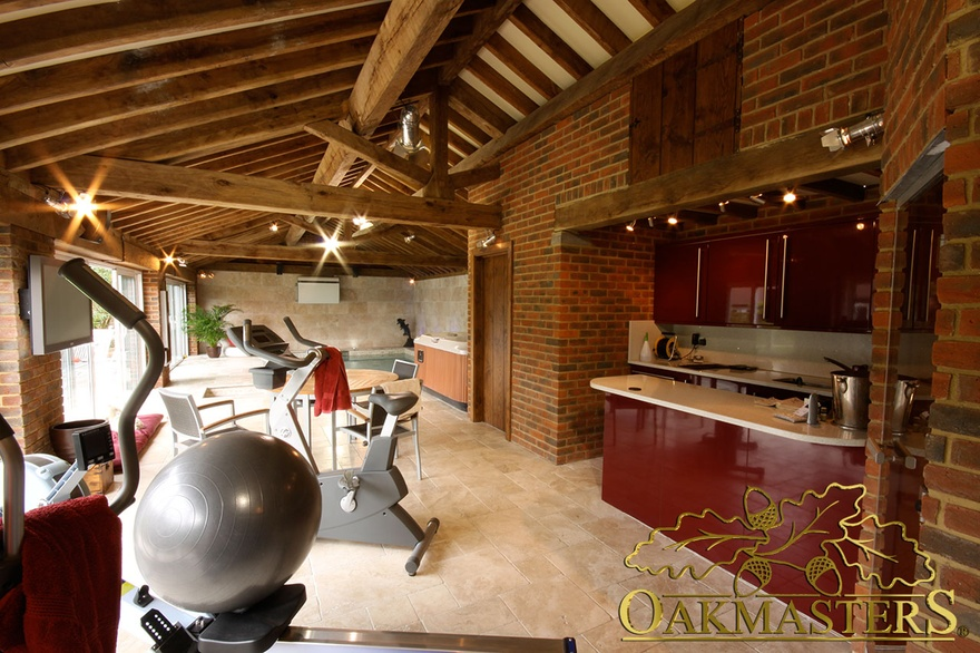 oak pool room gym