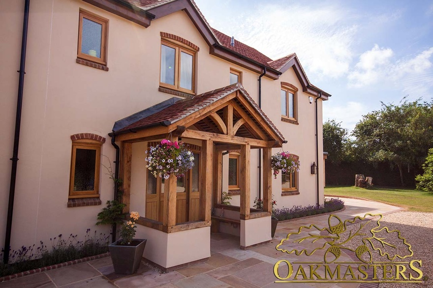 Complete your home with a beautiful oak framed porch for Open beam front porch
