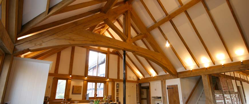 Oak Roof Trusses Roofing And King Post Trusses