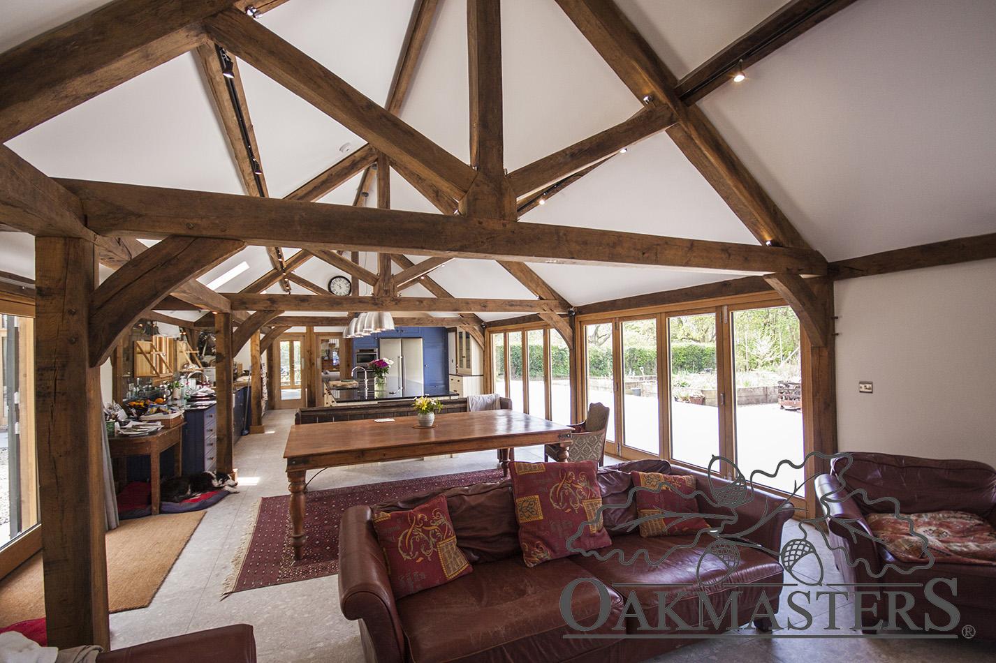 Contemporary Oak Barn Conversion Case Study Oakmasters